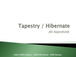 Tapestry  /  Hibernate