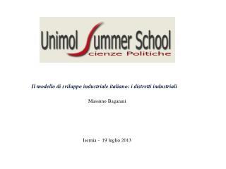 Il modello di sviluppo industriale italiano: i distretti industriali