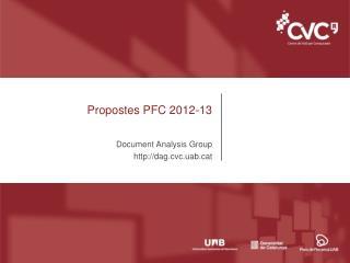Propostes PFC 2012-13