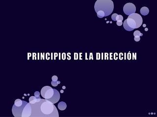 PRINCIPIOS DE LA DIRECCI�N
