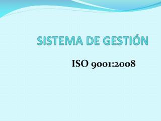 SISTEMA DE GESTIÓN