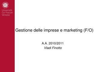 G e stione  delle imprese e marketing ( F /O)