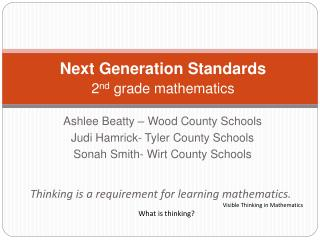Next Generation Standards  2 nd  grade mathematics