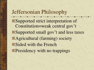 Jeffersonian Philosophy