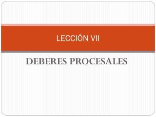 LECCIÓN VII