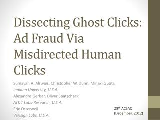 Dissecting Ghost Clicks: Ad Fraud Via Misdirected Human Clicks