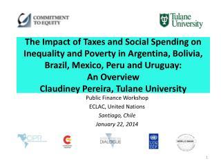 Public Finance Workshop  ECLAC, United Nations Santiago, Chile January 22, 2014