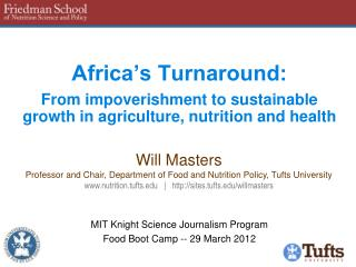 MIT Knight Science Journalism Program Food Boot Camp -- 29 March 2012