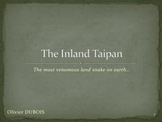 The  Inland Taipan