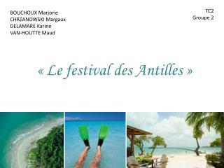 «Le festival des Antilles»