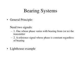 Bearing Systems