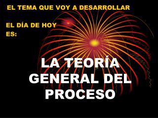 LA TEORÍA GENERAL DEL PROCESO