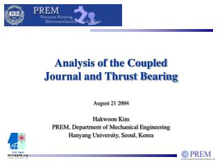 Analysis of the Coupled Journal and Thrust Bearing