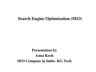 SEO Tutorial - SEO Company in India