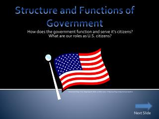 Structure and Functions of Government