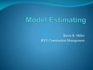 Model Estimating