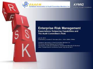 Enterprise Risk Management Expectations Outpacing Capabilities and
