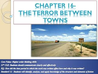 Chapter 16-  The  T error Between Towns