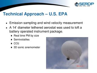 Technical Approach – U.S. EPA