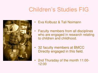 Children's Studies FIG