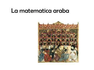 La matematica araba
