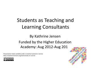 Students as Teaching and Learning Consultants