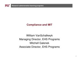Compliance and MIT