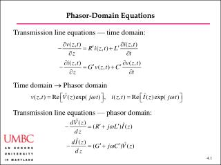 Phasor-Domain Equations