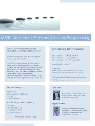 MBSR - Seminar zur Stressreduktion und Entspannung