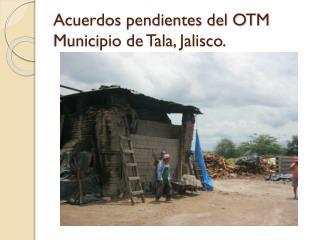 Acuerdos pendientes del OTM Municipio de Tala, Jalisco.