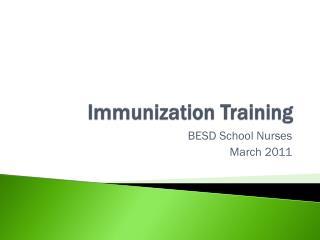 Immunization Training