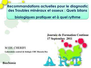 Journée de Formation Continue   17 Septembre  2011