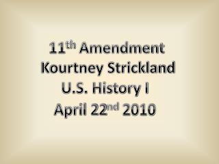 11 th  Amendment
