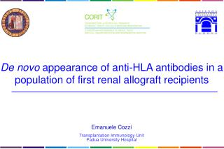 Emanuele  Cozzi Transplantation Immunology Unit Padua University Hospital