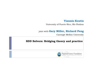 SDD Solvers: Bridging theory and practice