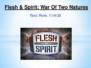 Flesh & Spirit:  War Of Two Natures