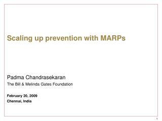 Scaling up prevention with MARPs