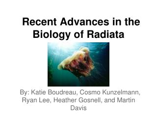 Recent Advances in the Biology of Radiata