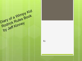Diary of a Wimpy Kid  Rodrick  Rules  Book by Jeff Kinney