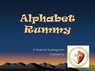 Alphabet Rummy