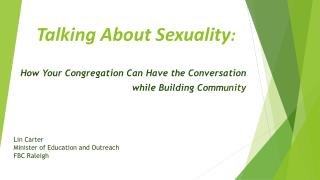 Talking About Sexuality :