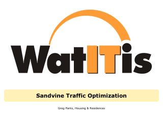 Sandvine Traffic Optimization