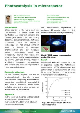Photocatalysis  in  microreactor