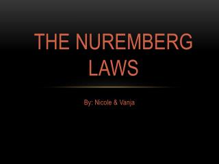 The Nuremberg Laws