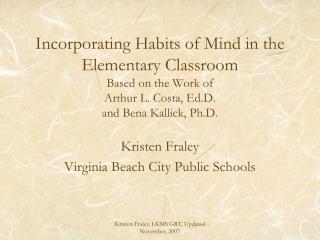 Kristen Fraley Virginia Beach City Public Schools