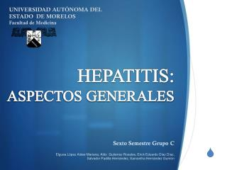 HEPATITIS:  ASPECTOS GENERALES