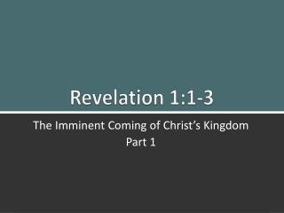 Revelation 1:1-3