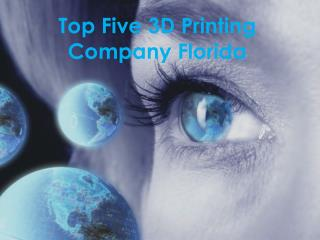 Top Five 3D Printing Services provider Companies FL