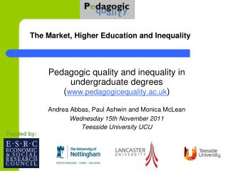 The Market, Higher Education and Inequality