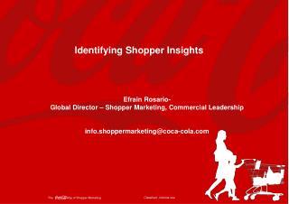Identifying Shopper Insights